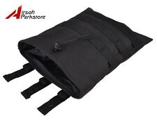 Tactical Military Airsoft Hunting Molle Belt Magazine Dump Drop Pouch Bag Black