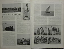 1903 BOER WAR ERA PRINT ~ SOMALILAND OPERATIONS LEVIES CAPTURED DHOW OFFICERS