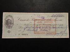 VECCHIO ASSEGNO CASSA DI RISPARMIO DELLA SPEZIA  1956  .