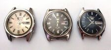SEIKO WRISTWATCHES VINTAGE MEN'S AUTOMATIC LOT OF 3 PCS RARE 21 JEWELS NO BAND