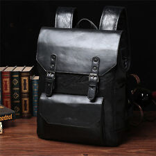 Men's  Briefcase Laptop Bags Leather Backpack Messenger Rucksack Bag Vintage New