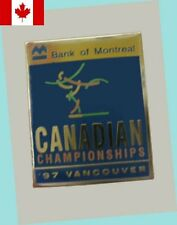 1997 Vancouver Canadian Figure Skating Championships Lapel Pin EX/MT - SCARCE