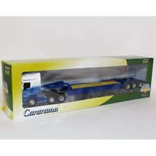 CARARAMA - SCANIA CAB WITH LOW LOADER TRAILER STOBART RAIL 1:50 SCALE
