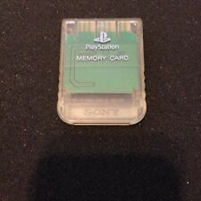 Playstation 1 Official Sony Brand memory card CRYSTAL CLEAR color great shape