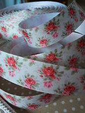 22mm shabby chic rose nastro di seta grossa. confezione regalo, artigianato, i capelli con fiocco, Card.