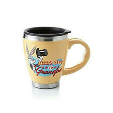 Hallmark Looney Tunes Bugs Bunny Hats Off To Grandpa Ceramic Travel Mug #LPR1642
