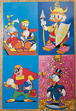 4 Italian UNCLE SCROOGE Postcards - GYRO GEARLOOSE BEAGLE BOYS Carl Barks