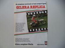 advertising Pubblicità 1980 MOTO GILERA 125 CROSS REPLICA