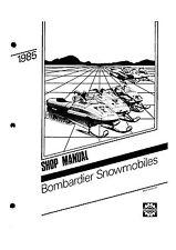 Bombardier service shop manual 1985 SAFARI GRAND LUXE LC & 1985 FORMULA SS