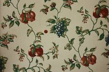 """Lot of 6 27"""" wide Double Roll Prepasted Washable wallpaper ~ Grape vines, Fruit"""
