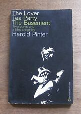 TWO PLAYS & FILM SCRIPT Harold Pinter  - 1st/2nd PB 1963  - the lover tea party