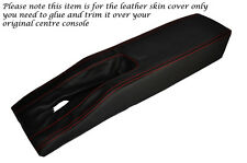 RED STITCH CENTRE CONSOLE TUNNEL LEATHER SKIN COVER FITS CORVETTE C3 77-82