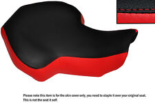 BLACK & RED CUSTOM FITS KAZUMA 100 ATV QUAD LEATHER SEAT COVER