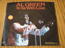 """AL GREEN - TO SIR WITH LOVE  7"""" VINYL PS"""