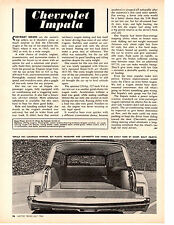 1964 CHEVROLET IMPALA STATION WAGON ~ ORIGINAL 2-PAGE ARTICLE / AD