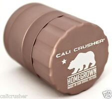 Cali Crusher Homegrown Herb & Tobacco Grinder Pocket Size 4 Piece Aluminum Brown