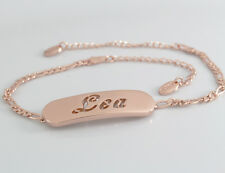 LEA - Bracelet With Name - 18ct Rose Gold Plated - Gifts For Her - Fashion