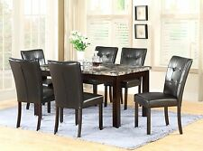 The Room Style 7-Piece 64x38 Dining Table Set with Faux Marble Top, Brand New