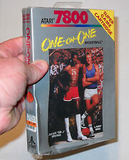 Atari 7800 --- ONE ON ONE  Basketball --- BRAND NEW --- Box Crushed --- NIB