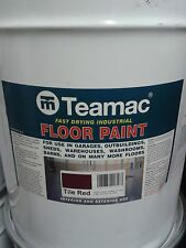 TEAMAC INDUSTRIAL FLOOR PAINT INTERIOR/EXTERIOR TILE RED 1 x 20Litre TIN