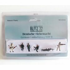 Blitz 72 1/72 BZF03 German WW2 Infantry Summer & Winter - 6 Painted Figures Set