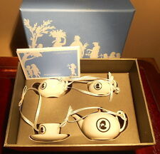 WEDGWOOD HANGING MOCK TEASET FOR CELEBRATORY USE, IN ORIGINAL PACKAGING