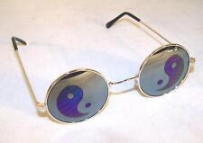 2 pair YIN YANG MIRROR REFLECTION GLASSES  mens womens sunglasses ying novelty