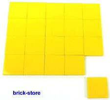 Lego ® amarilla 2x2 Basic baldosas/azulejos/placas/20 pieza