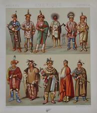 Amerika Indianer Kostüm Krieger Feder Kopfschmuck Beil Häuptling Pfeil Speer