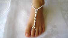Barefoot Sandals for Kids ~ Beach-Wedding ~ white / ivory pearls