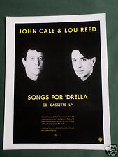 LOU REED & JOHN CALE - MAGAZINE CLIPPING / CUTTING- 1 PAGE ADVERT