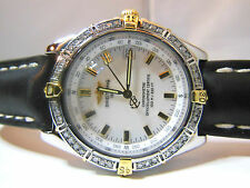 BREITLING WINDRIDER WINGS B10350 FOR MEN 38MM WIDE, GOLD WITH GENUINE DIAMONDS
