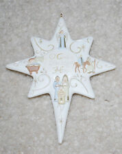 "Star O Come Let Us Adore Him Christmas Ornament Holiday Decoration 4.5""  VTG"