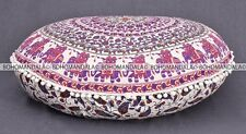 Indian Mandala Floor Pillow Tapestry Meditation Cushion Cover Baby Bed Round 32""