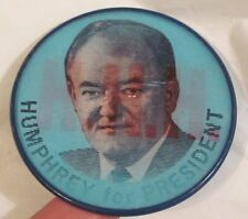 "Unique ""changing"" Vintage 1968 Hubert Humphrey for President Pin Mt. Vernon, NY"