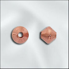 4.8mm Genuine Shiny Copper Double Cone Bicone Beads (100)