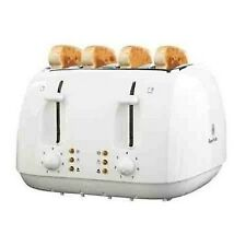 Russell Hoobs 4 slice Large Toaster Best quality White Brand New