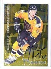 99-00 Be A Player Bap Millenium gold Joe Thornton autograph auto #24 *42401