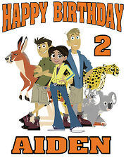 NEW PERSONALIZED CUSTOM WILD KRATTS BIRTHDAY T SHIRT PARTY FAVOR GIFT KRATS
