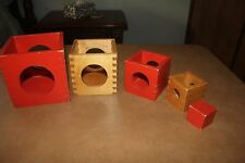 Vintage Creative Playthings Finland Wooden Stacking Box Set