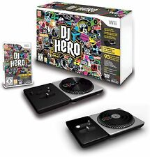 Wii-U/Wii DJ HERO Game Double Bundle 2 TURNTABLES Set nintendo kit video guitar