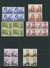 AUSTRALIA NAVIGATORS HIGH VALUES  SCOTT#374/79 SET OF BLOCKS MINT HINGED FULL OG