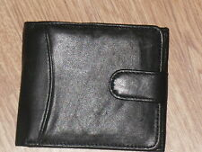 A Soft Leather Wallet With Internal Zip Change Purse Clear Window Press Stud.