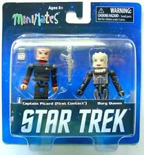 STAR TREK LEGACY MINIMATES SERIE 1 PACK 2 FIGURINES CAPTAIN PICARD 1 BORG QUEEN