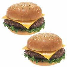 2  cheeseburger stickers fast food  catering trailer