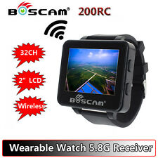 "Boscam 200RC 2"" FPV 5.8G 32CH LCD HD Monitor Watch Receiver Wireless for Hubsan"
