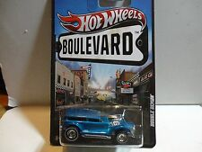 Hot Wheels Boulevard Blue Double Demon w/Real Riders