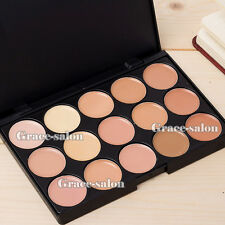 15 Color Matte Warm Concealer Cream Foundation Contour Matt Nude Neutral Palette