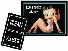 BETTY BOOP #2  DISHWASHER MAGNET (Clean/Dirty) - Ship Free!