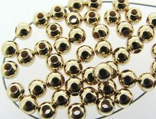 100  ea 14k GOLD FILLED 3mm SEAMLESS Round Beads